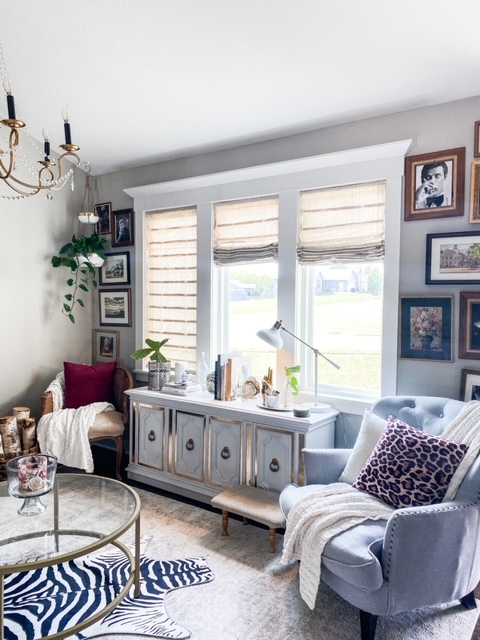 eclectic glam living room