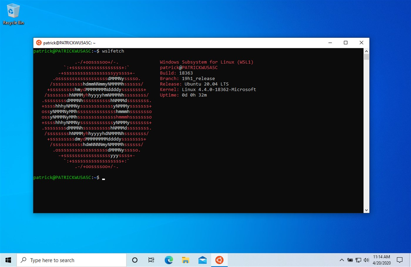 Ubuntu 20.04 LTS disponibile in Microsoft Store per Windows 10