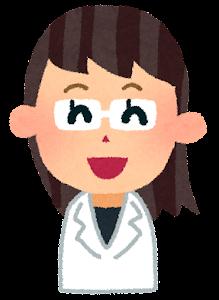 女性の医者の表情のイラスト「笑った顔」
