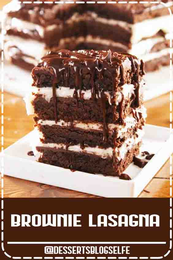 What's better than one brownie? 8 layers of brownies and cream cheese, obvs. This is the most decadent dessert around and you'll want to share it with all of your friends. Get the recipe at Delish.com. #DessertsBlogSelfe #delish #easy #recipe #brownie #lasagna #chocolate #dessert #parties #layered #birthday #BirthdayDesserts #easy