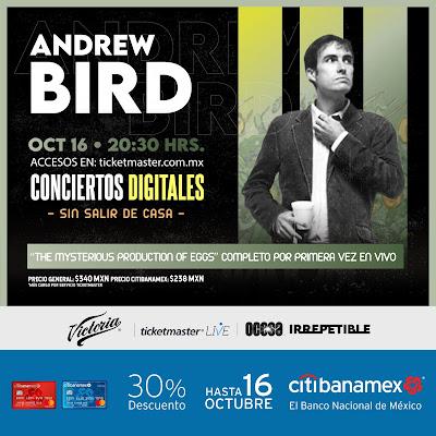"""Andrew Bird presentará su disco """"The Mysterious Production of Eggs"""" en vivo"""