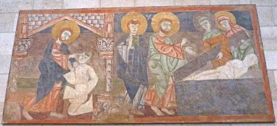 ROMÁNICO EN NUEVA YORK. THE CLOISTERS MET. La curación del ciego y la resurrección de Lázaro