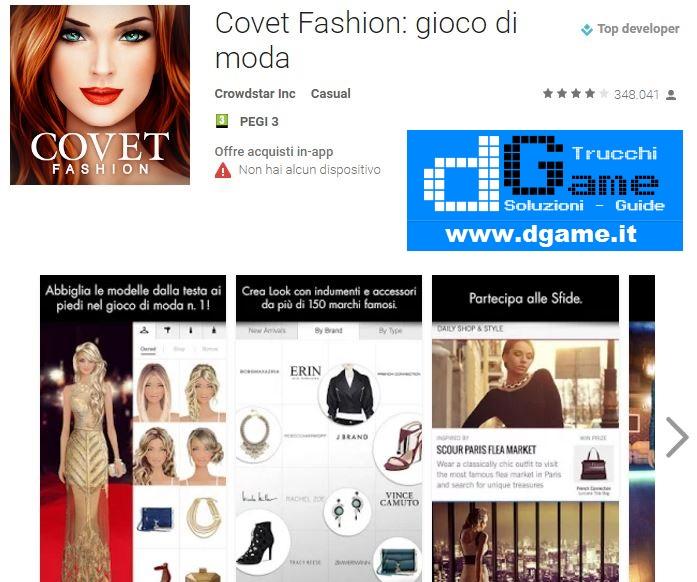 Trucchi Covet Fashion: gioco di moda Mod Apk Android