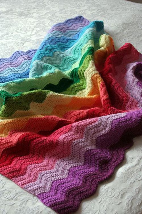 Rainbow Ripple Blanket - Free Pattern