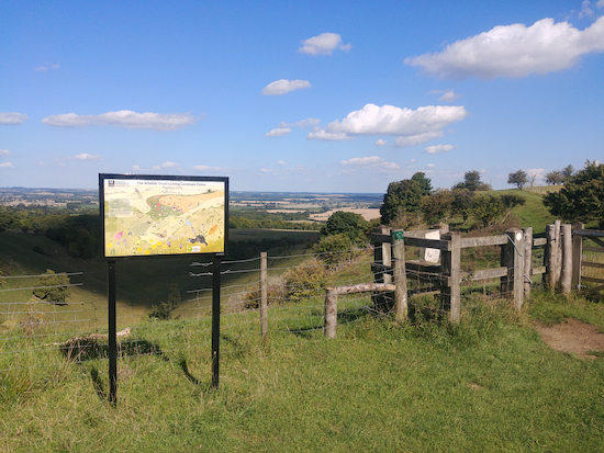 The view from the Pegsdon Hill and Hoo Bit nature reserve mentioned in point 2 below Image by Hertfordshire Walker released via Creative Commons BY-NC-SA 4.0