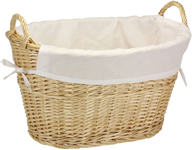 large willow wicker laundry basket liner