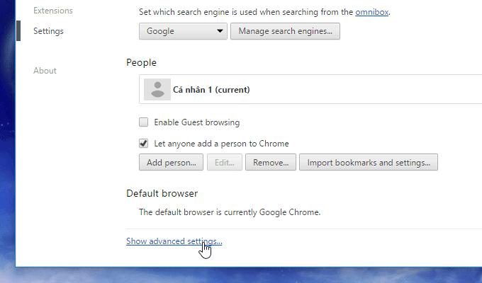 Đổi cài đặt ngôn ngữ trong Chrome