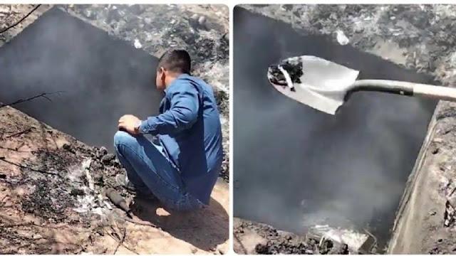 Video: Madres buscadoras encuentran fosa crematoria con cuerpos aun ardiendo en fosa clandestina en Gauymas, Sonora