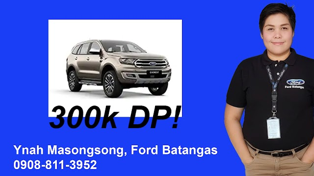 2019 New Ford EVEREST as low as 299k Downpayment - Ynah Masongsong