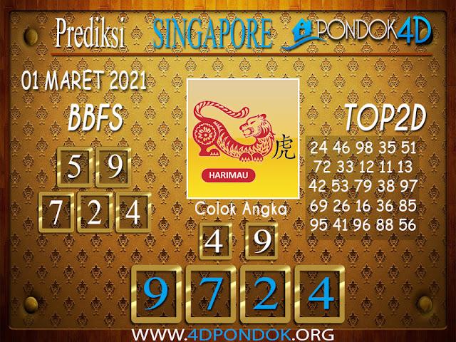 Prediksi Togel SINGAPORE PONDOK4D 01 APRIL 2021