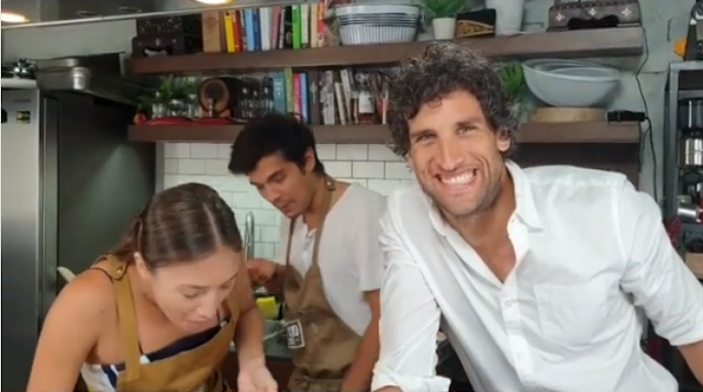"Nico Bulzico pranks wife Solenn And brother-in-law Erwan Heusaff with a ""soap cheese."""