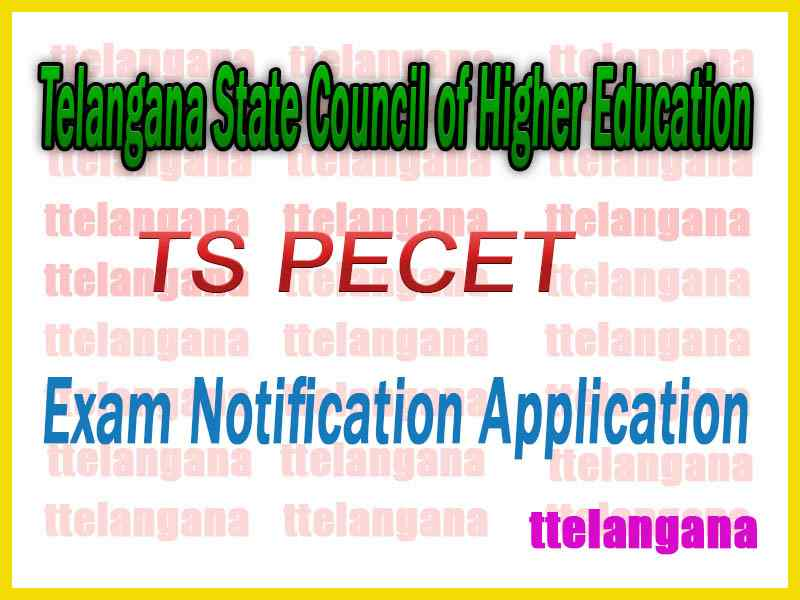 TS PECET Telangana State Council of Higher Education Notification Application