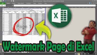 cara membuat page di excel