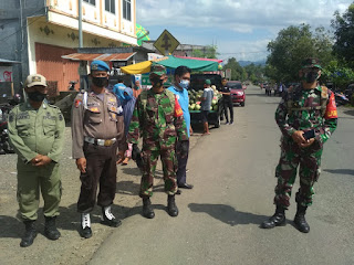 Personel Polsek Cendana Bersama Instansi Gabungan Laksanakan Operasi Yustisi