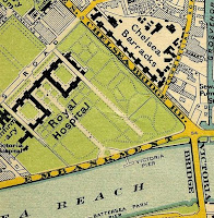 Royal Hospital Chelsea on  Stanford's Map of 1897