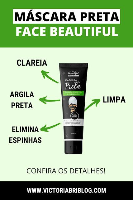 Máscara Preta Face Beautiful Professional como usar - Resenha
