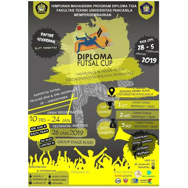 Lomba Futsal Diploma Cup 2019 SMA Sederajat