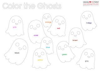 Mama Love Print PreK 工作紙  - 認識顏色填色活動 PreK / K1 - Coloring Printable Freebies Kindergarten Worksheet Free Download