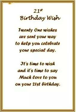 Inspirational 21st Birthday Quotes
