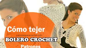 Bellísimo Bolero Crochet con Patrones y Explicación