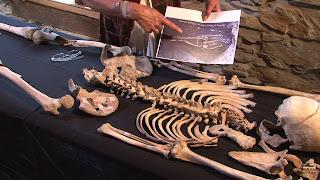 Photo du squelette présumé d'Ursula Kemp