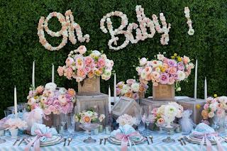 Oh Baby fresh flower sign custom design