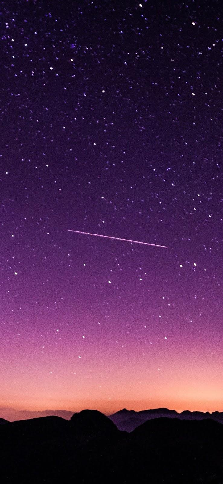 Purple starry night