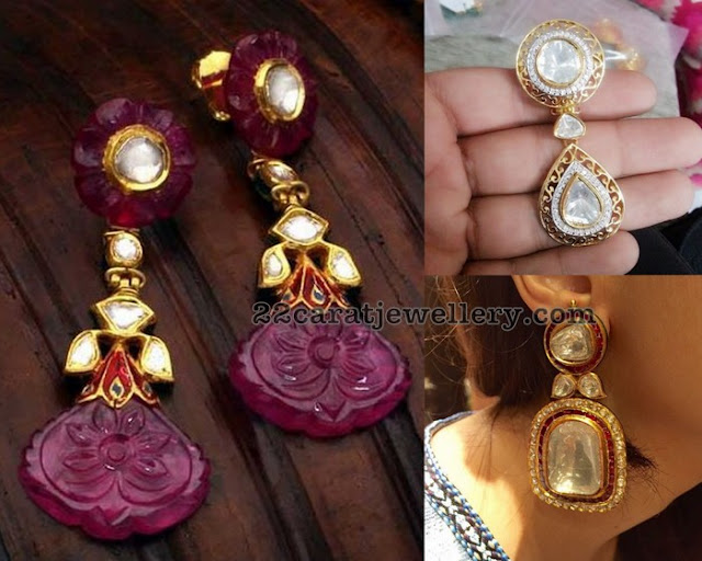 Large Kundan Polki Earrings