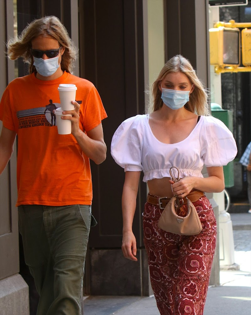 Elsa Hosk Clicked Outside in New York - Wearing a Mask  23 Jun -2020