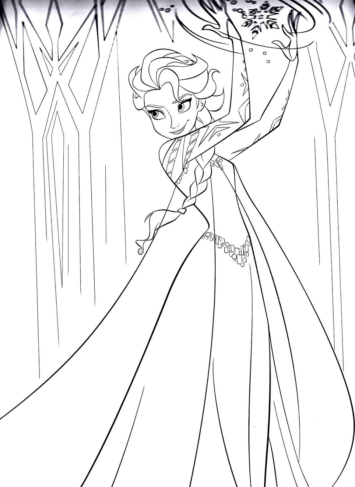 Tranh tô màu Elsa 14