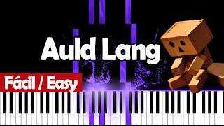 auld lang piano easy