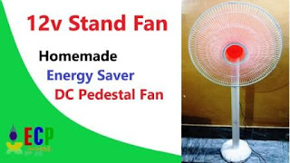 how to make 12v stand fan
