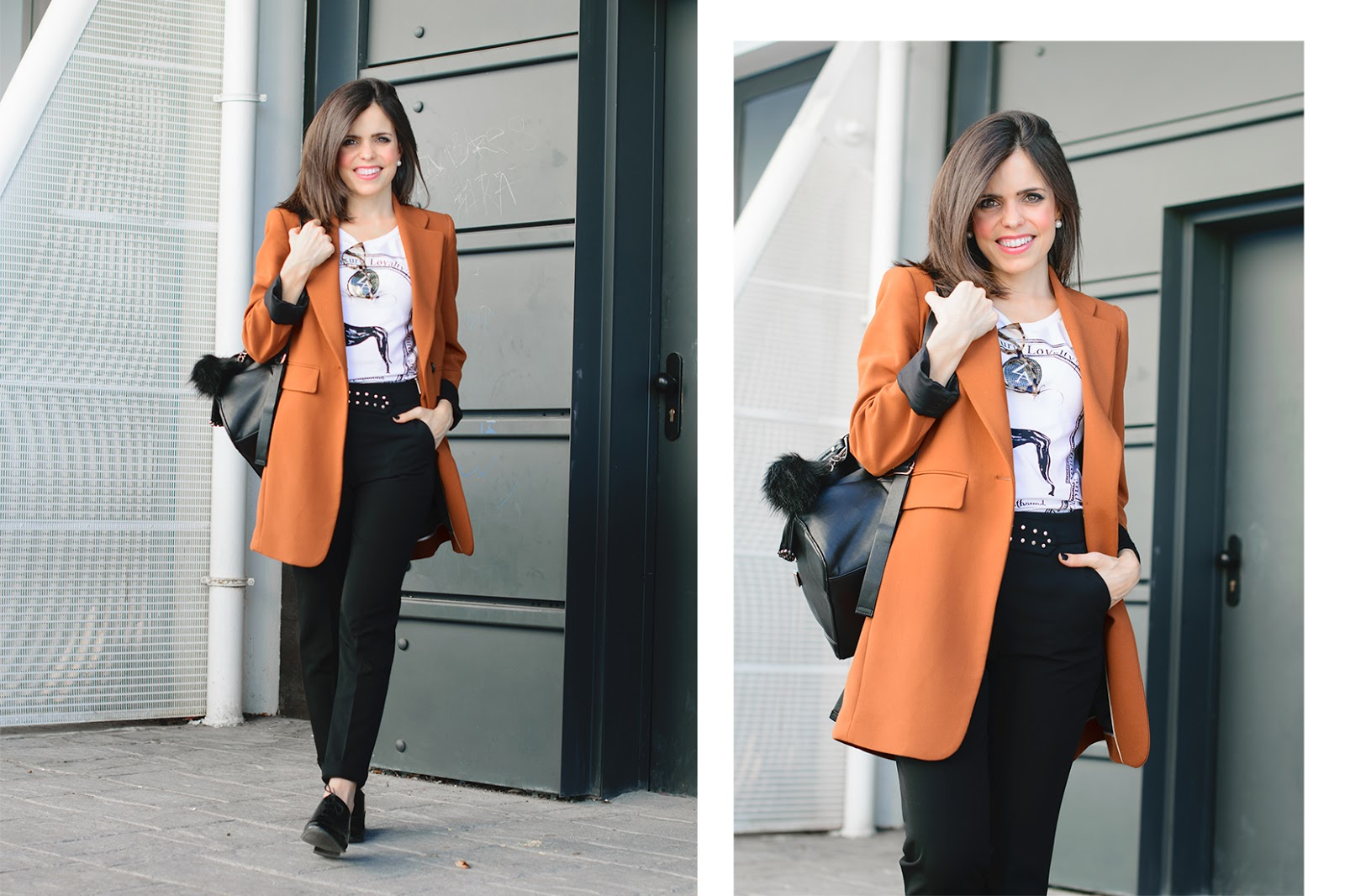 Look working con gafas de Zara
