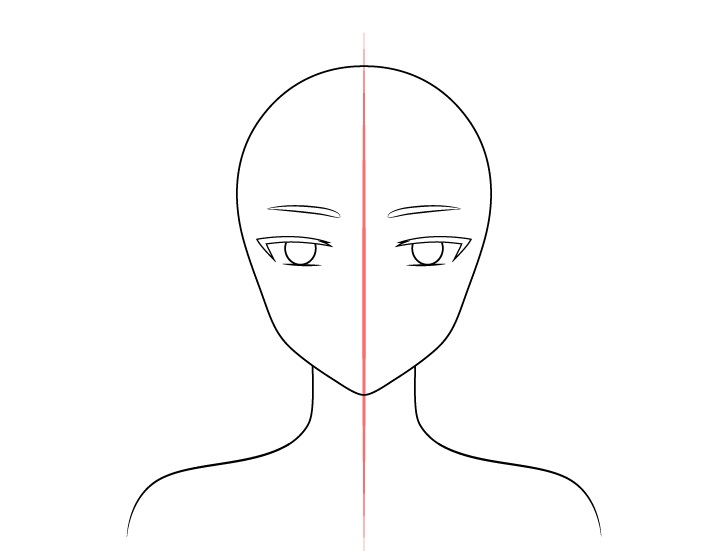 Gadis peri anime menurunkan alis menggambar