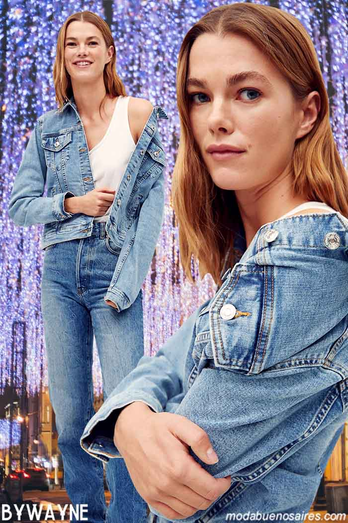 Moda jeans mujer otoño invierno 2021