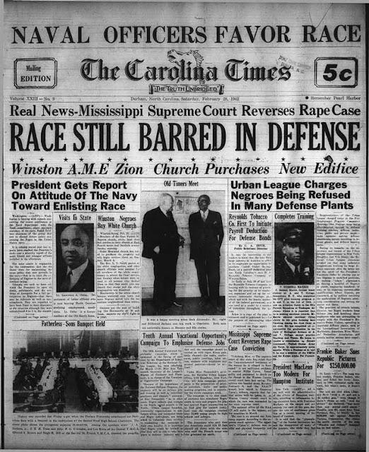 The Carolina Times, 28 February 1942 worldwartwo.filminspector.com