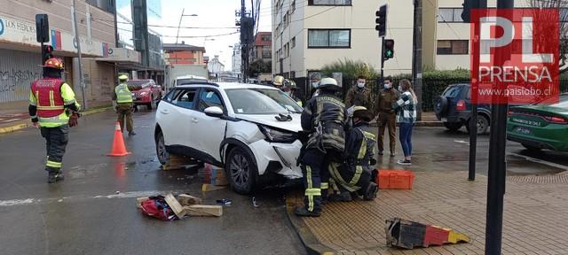 Osorno: Accidente de tránsito en Av. Juan Mackenna con M.A. Matta