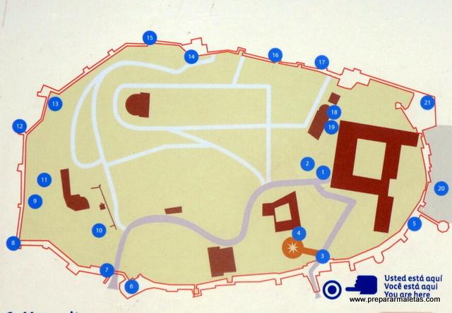 plano de la Alcazaba de Badajoz