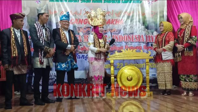 Bupati Tanggamus Siap Berikan Suport dan Dukungan Dalam Melestarikan Seni Budaya Lampung 'Cangget Bakha'
