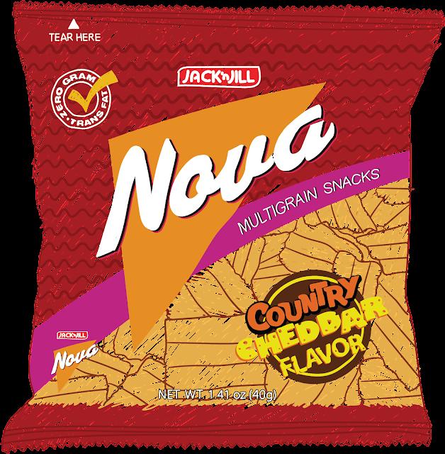 Fiber-rich snack Jack 'n Jill Nova is the first multigrain snack in the Philippines.