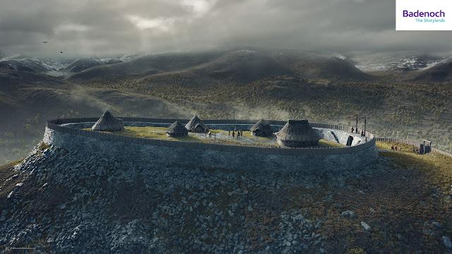 Digital reconstruction of Torr Alvie Hillfort, Badenoch by Bob Marshall