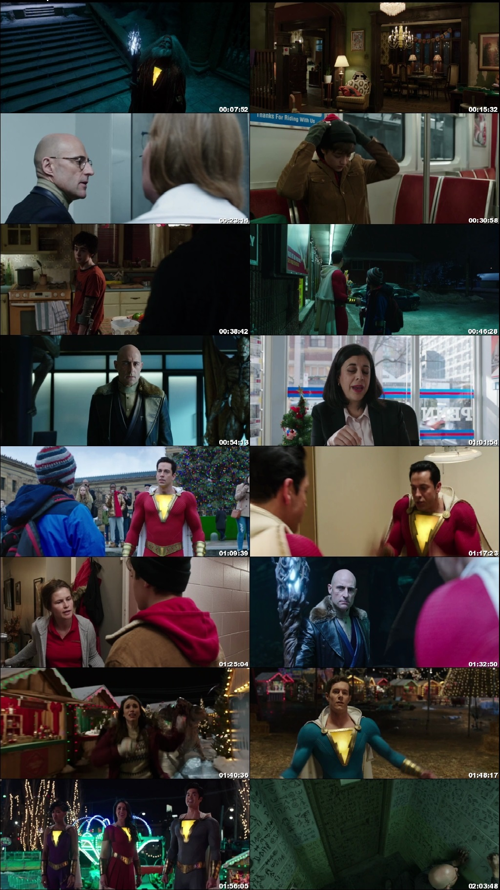 Screen Shot Of Shazam! 2019 300MB Full Movie Hindi Dubbed Free Download 720P BRRip HEVC