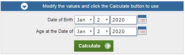 Age Calculator, Check Age