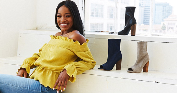 Keke Palmer's shoe collections with Shoe Dazzle