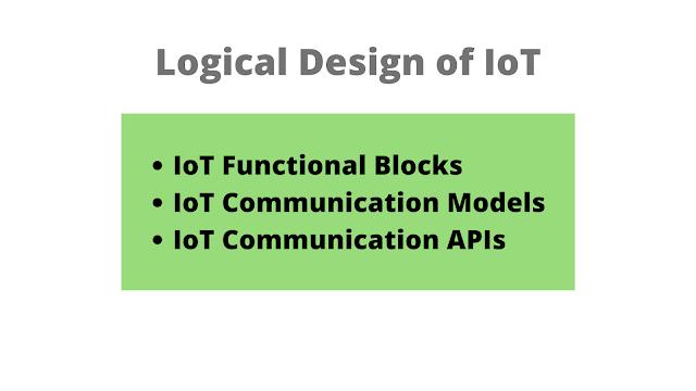 Logical Design of IoT | Communication Models | APIs | Functional Blocks