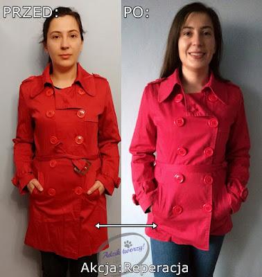 Akcja:Reperacja u Adzika - pomysły listopad 2019 - skracanie płaszcza diy