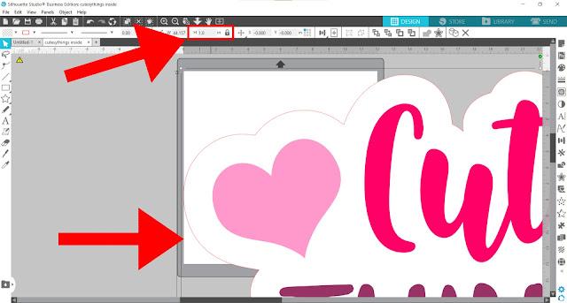 print and cut, silhouette studio, silhouette studio designing, silhouette studio v4, silhouette software, lock aspect ratio