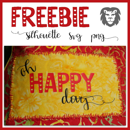 Oh Happy Day - Plotter Freebie