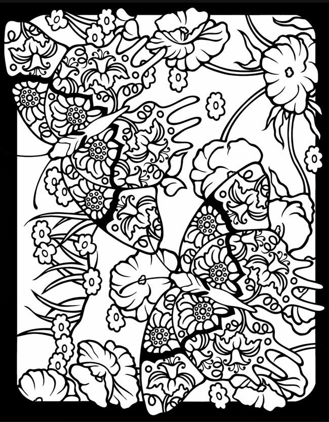 Kleurplaten Voor Volwassenen Zebra Expose Homelessness Fancy Stained Glass Window Butterfly
