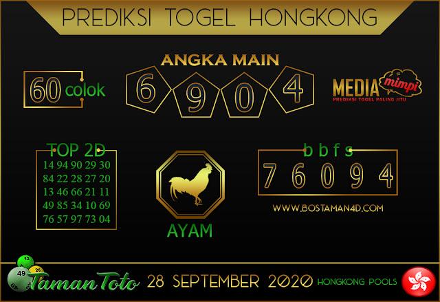 Prediksi Togel HONGKONG TAMAN TOTO 28 SEPTEMBER 2020